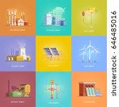 set of illustrations on the...   Shutterstock .eps vector #646485016