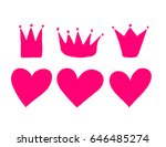 vector set of hand drawn hearts ... | Shutterstock .eps vector #646485274