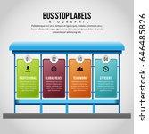 vector illustration of bus stop ... | Shutterstock .eps vector #646485826