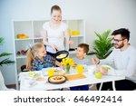 family having breakfast   Shutterstock . vector #646492414