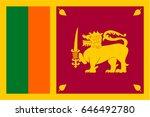 sri lanka flag | Shutterstock .eps vector #646492780