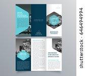 brochure design  brochure... | Shutterstock .eps vector #646494994