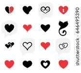 simple heart icon colection... | Shutterstock .eps vector #646495390