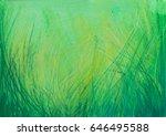 pastel painting grass... | Shutterstock . vector #646495588