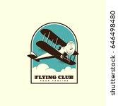 airplane logo template design.... | Shutterstock .eps vector #646498480