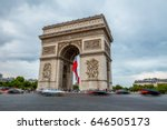 arc de triomphe in paris  | Shutterstock . vector #646505173