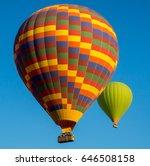 hot air balloons flying at blue ... | Shutterstock . vector #646508158