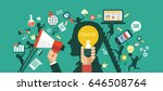 creative network concept.... | Shutterstock .eps vector #646508764
