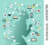 creative network concept.... | Shutterstock .eps vector #646508788