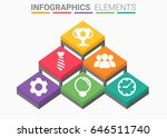 infographics element abstract... | Shutterstock .eps vector #646511740