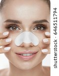 skin care. closeup of beautiful ... | Shutterstock . vector #646511794