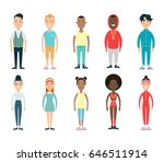 flat male and female style... | Shutterstock .eps vector #646511914