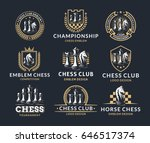 chess logo set   vector... | Shutterstock .eps vector #646517374