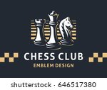 chess club logo   vector... | Shutterstock .eps vector #646517380