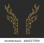 head of a deer and triangles... | Shutterstock .eps vector #646517554