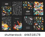 cards  vector template... | Shutterstock .eps vector #646518178