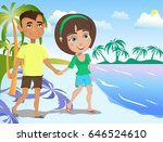 vector illustration of couple... | Shutterstock .eps vector #646524610