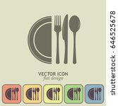 vector illustration sign with... | Shutterstock .eps vector #646525678