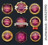 sale retro vintage golden... | Shutterstock .eps vector #646525990