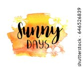 vector trendy hand lettering... | Shutterstock .eps vector #646526839