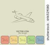 plane icon vector | Shutterstock .eps vector #646529080