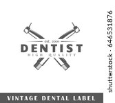 dental label isolated on white... | Shutterstock .eps vector #646531876