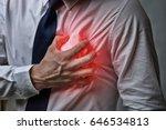 Heart Attack Concept. Man...