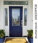 blue door | Shutterstock . vector #646539928