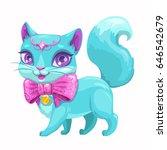 cute cartoon little princess... | Shutterstock .eps vector #646542679