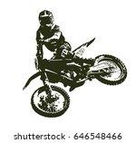 motocross rider   Shutterstock .eps vector #646548466