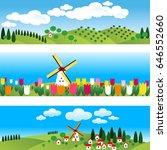set of 3 borders. netherlandish ... | Shutterstock .eps vector #646552660