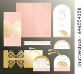 wedding set in oriental style....   Shutterstock .eps vector #646554358