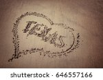 the word texas and heart drawn... | Shutterstock . vector #646557166