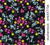 seamless cute pattern of small...   Shutterstock . vector #646557736