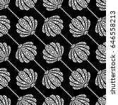 dotted seamless pattern of... | Shutterstock .eps vector #646558213