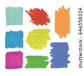 set of watercolor abstract... | Shutterstock .eps vector #646558324