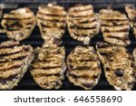 steaks on barbecue grill | Shutterstock . vector #646558690