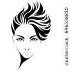 illustration of women short... | Shutterstock .eps vector #646558810