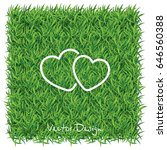 web line icon. two hearts.   Shutterstock .eps vector #646560388