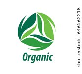 vector logo organic | Shutterstock .eps vector #646562218