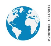 vector globe icon of the world | Shutterstock .eps vector #646570558