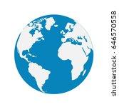 vector globe icon of the world | Shutterstock .eps vector #646570558