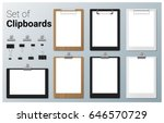 set of realistic clipboards  ... | Shutterstock .eps vector #646570729