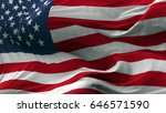 usa flag blowing on the wind ... | Shutterstock . vector #646571590