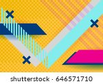 vector abstract background... | Shutterstock .eps vector #646571710