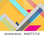 vector abstract background... | Shutterstock .eps vector #646571713