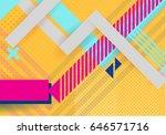 vector abstract background... | Shutterstock .eps vector #646571716