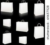 set of blank white paper... | Shutterstock . vector #64657528