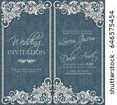 wedding vintage invitation card ... | Shutterstock .eps vector #646575454