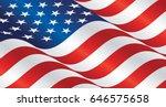USA wavy flag landscape background | Shutterstock vector #646575658